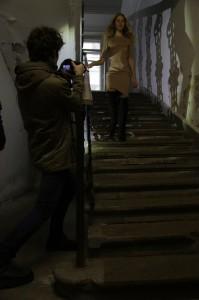 снимаем видео на лестнице