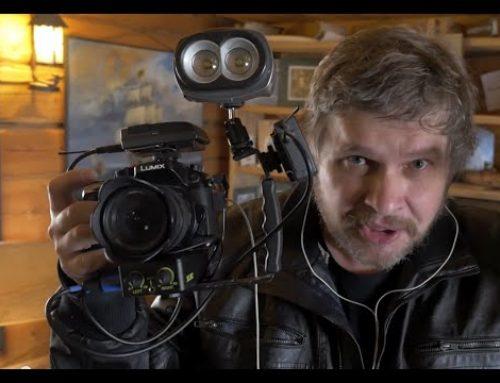 Портативный электронный стедикам и кран GoPro